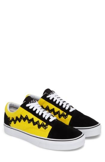 Men's Vans X Peanuts Authentic Sneaker .5 M - Black