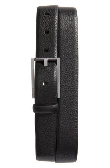 Men's Ck Calvin Klein Pebbled Leather Belt - Black
