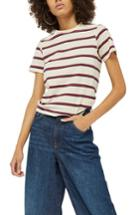 Women's Topshop Stripe Tee Us (fits Like 0) - Ivory