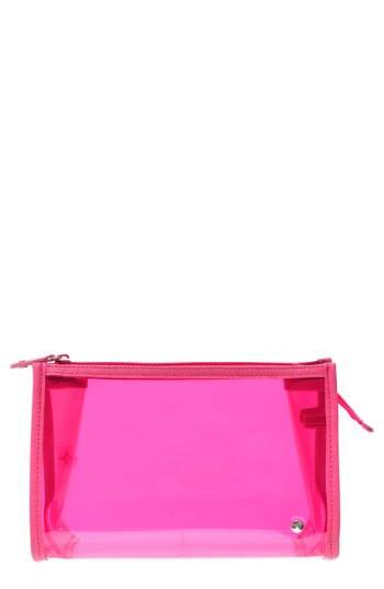 Stephanie Johnson Miami Medium Zip Closure Cosmetics Case, Size - Miami Neon Pink