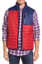 Men's Vineyard Vines Mountain Weekend Colorblock Primaloft Vest - Red