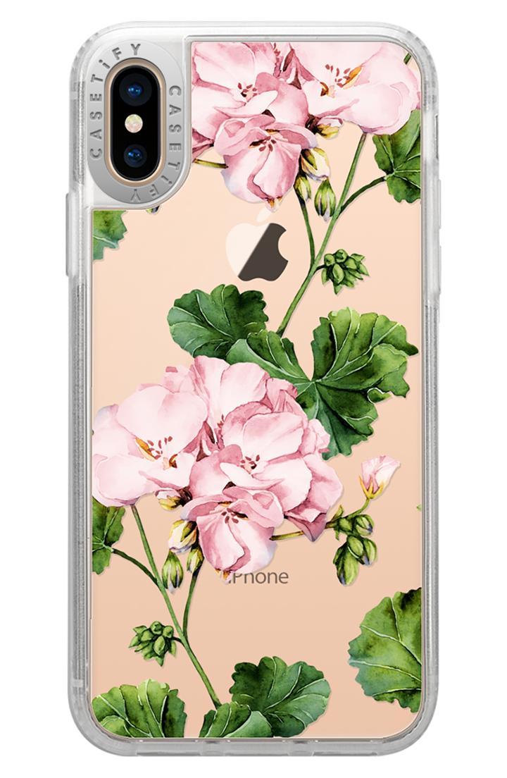 Casetify Geranium Iphone X/xs/xs Max & Xr Case - Pink