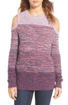 Women's Rebecca Minkoff Page Stripe Cold Shoulder Sweater