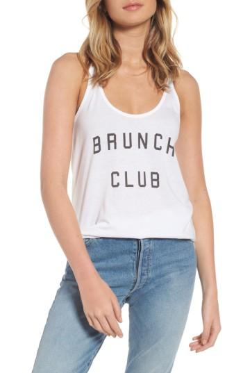Women's South Parade Brunch Club Tank - White