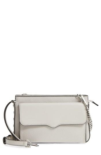Women's Rebecca Minkoff Small Bree Leather Crossbody Bag - Ivory
