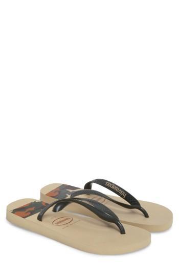 Men's Havaianas Top Stripes Flip Flop /11 M - Beige