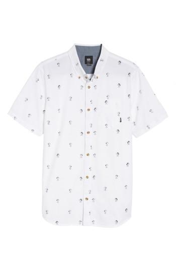 Men's Vans X Peanuts Houser Snoopy Print Woven Shirt - White