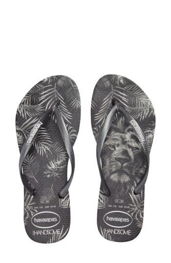 Women's Havaianas Slim Handsome Flip Flop /38 Br - Black