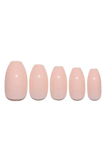 Static Nails Nude Peach Pop-on Reusable Manicure Set - Nude Peach