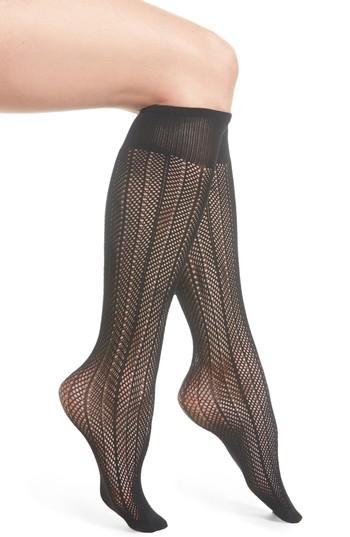 Women's Swedish Stockings Astrid Fishnet Tights - Black