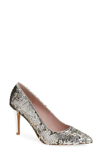 Women's Chinese Laundry Ruthy Pointy Toe Pump M - Metallic