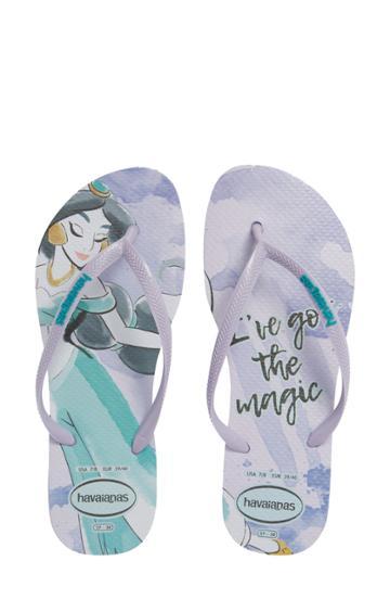 Women's Havaiana Slim - Disney Princess Flip Flop /42 Br - Purple