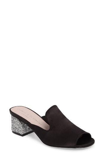 Women's Chinese Laundry Mara Glitter Loafer Mule M - Black