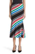 Women's Oscar De La Renta Compact Knit Stripe Skirt