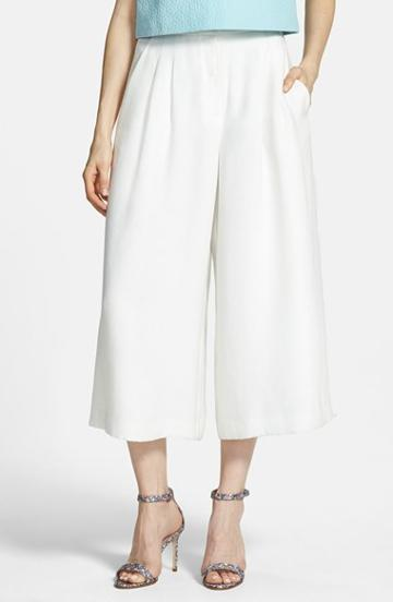 Women's Chelsea28 Pleated Culottes, Size 2 - White White Star