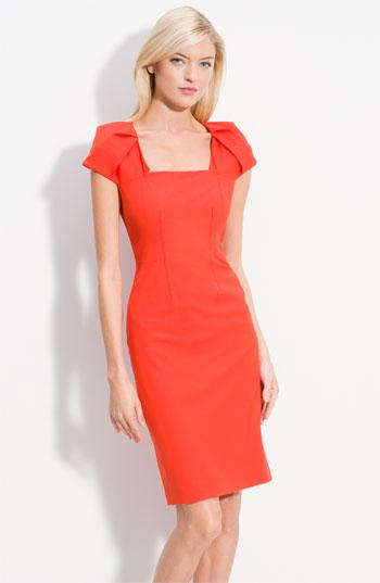 Rachel Roy Origami Cap Sleeve Fitted Dress