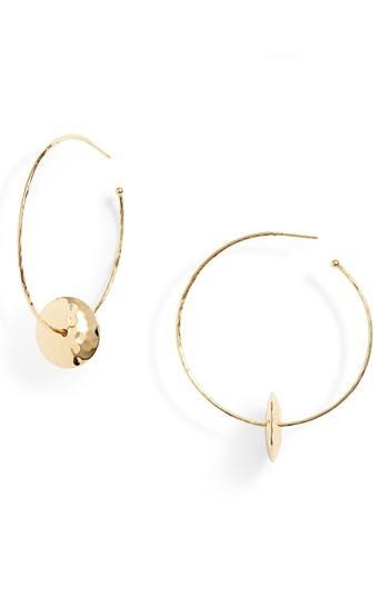 Women's Gorjana Marlow Hammered Disc Hoop Earrings