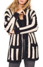 Women's Amuse Society Keep Me Cozy Stripe Sweater - Black