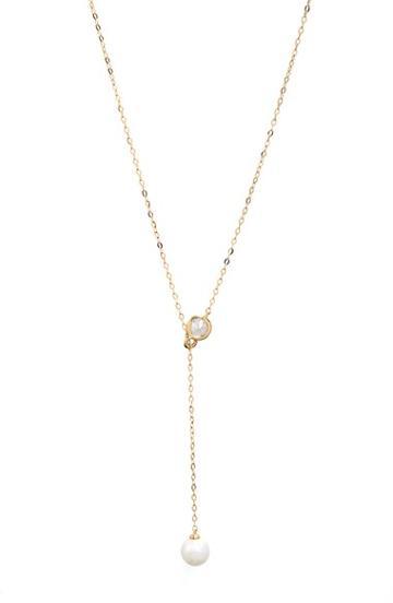 Women's Nadri Faux Pearl Long Y-necklace -