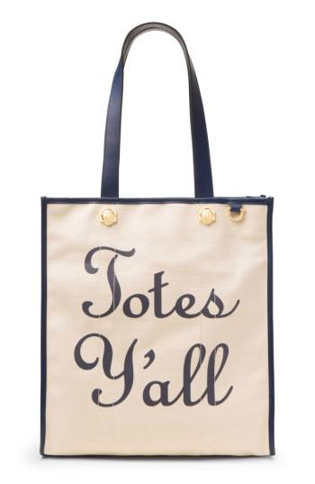 Draper James Totes Y'all Canvas Tote -