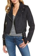 Women's Levis Faux Suede Moto Jacket - Blue