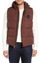 Men's Ugg Nathaniel Down Vest, Size - Brown