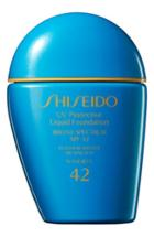 Shiseido Sun Uv Protective Liquid Foundation Spf 42 - Medium Beige