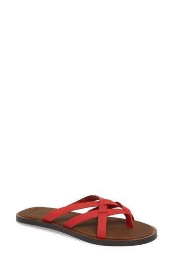 Women's Sanuk Yoga Strappy Thong Sandal M - Red