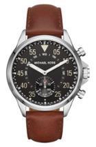 Women's Michael Kors Gage Leather Strap Smart Watch, 45mm