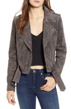 Women's Blanknyc Morning Suede Moto Jacket - Beige