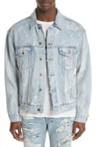 Men's Ksubi Oh G Electric Marble Denim Jacket - Blue