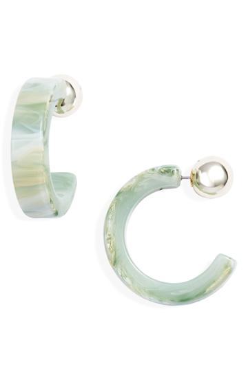 Women's 8 Other Reasons Mint Hoop Earrings