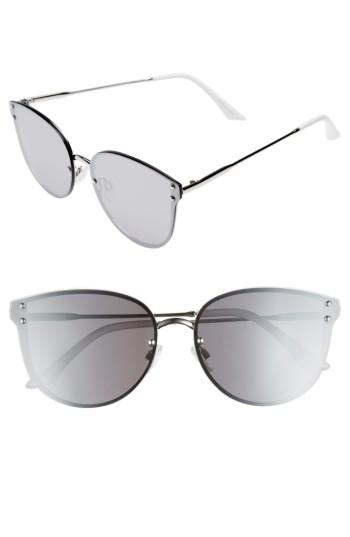 Women's Leith 60mm Cat Eye Sunglasses - Silver