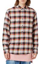 Men's Topman Check Flannel Shirt