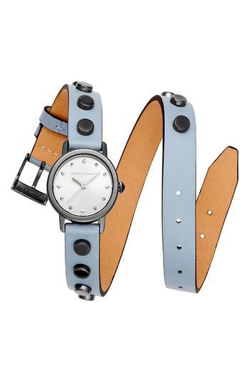 Women's Rebecca Minkoff Bffls Double Wrap Leather Strap Watch, 25mm