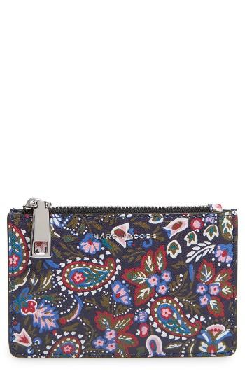 Marc Jacobs Garden Paisley Leather Cosmetics Case