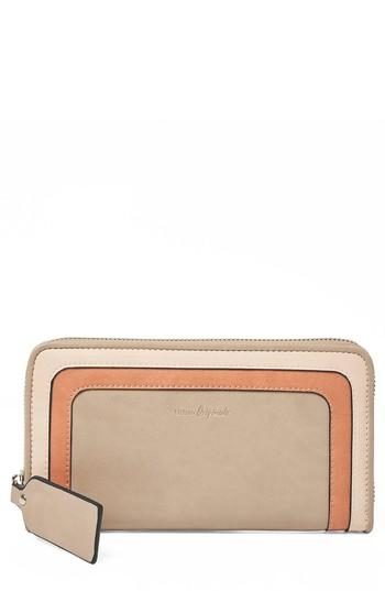 Women's Urban Originals Drama Queen Faux Leather Zip Wallet - Beige