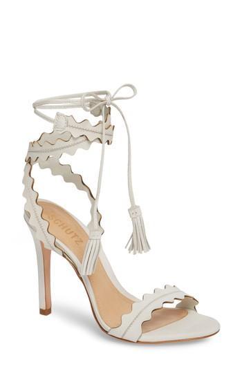 Women's Schutz Lisana Wraparound Sandal M - White