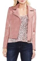 Women's Vince Camuto Pink Faux Leather Moto Jacket, Size - Pink