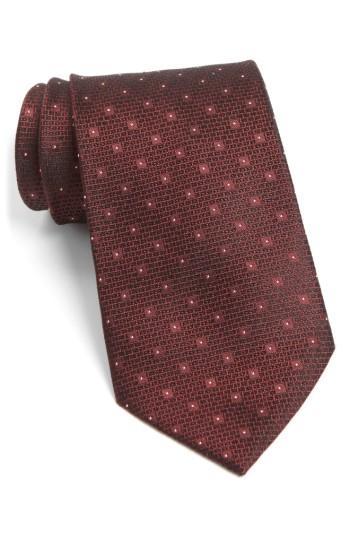 Men's John Varvatos Star Usa Dot Silk Tie, Size - Grey