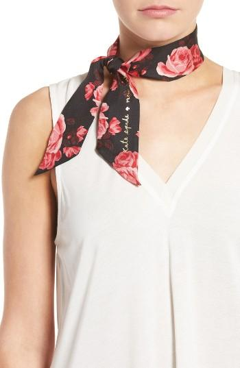 Women's Kate Spade New York Rosa Silk Skinny Scarf