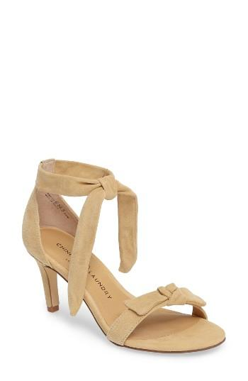 Women's Chinese Laundry Rhonda Ankle Tie Sandal M - Yellow