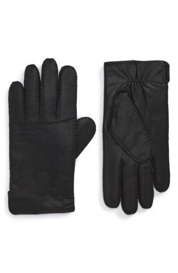 Men's Boss Kanton Leather Gloves .5 - Black