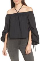 Women's Rebecca Minkoff Tilda Off The Shoulder Blouse, Size - Black