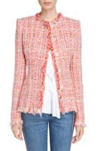 Women's Alexander Mcqueen Ribbon Tweed Jacket Us / 44 It - Red