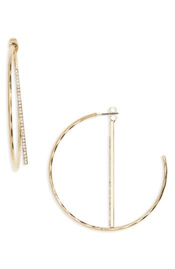 Women's Bp. Crystal Half Hoop Earrings
