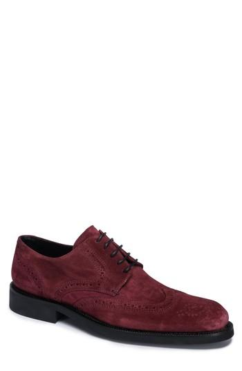 Men's Bugatchi 'siena' Wingtip Oxford (men) M - Burgundy