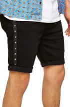 Men's Topman Studded Stretch Skinny Fit Denim Shorts - Black