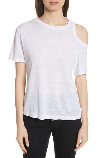Women's A.l.c. Serrano Cold Shoulder Tee - White