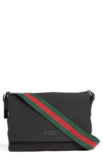 Men's Gucci Techno Canvas Messenger Bag - None